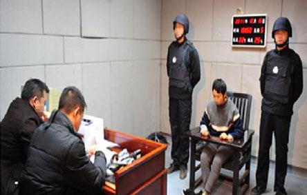 公安审讯场景图