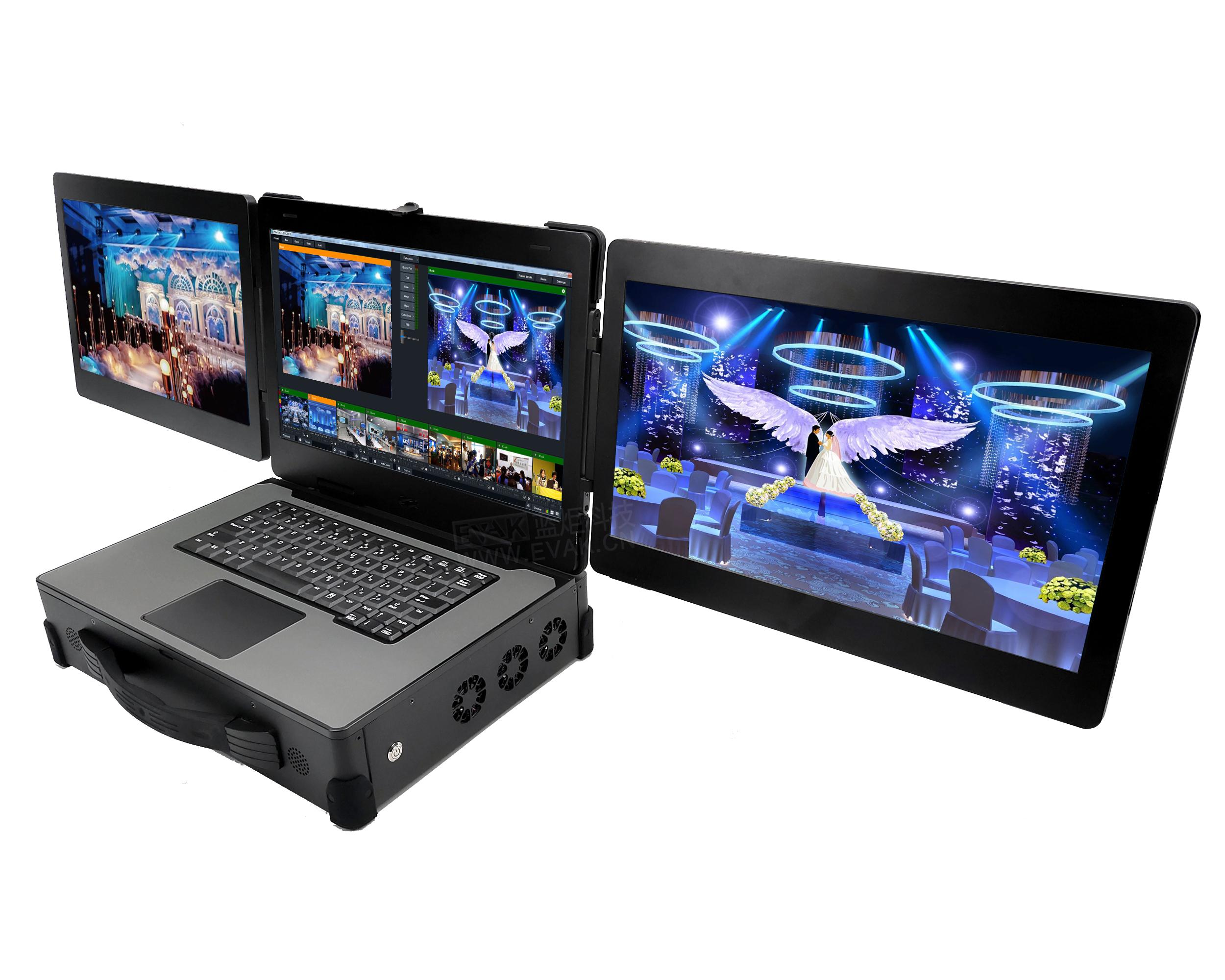 FLEX-510三屏自由扩展便携式工控机