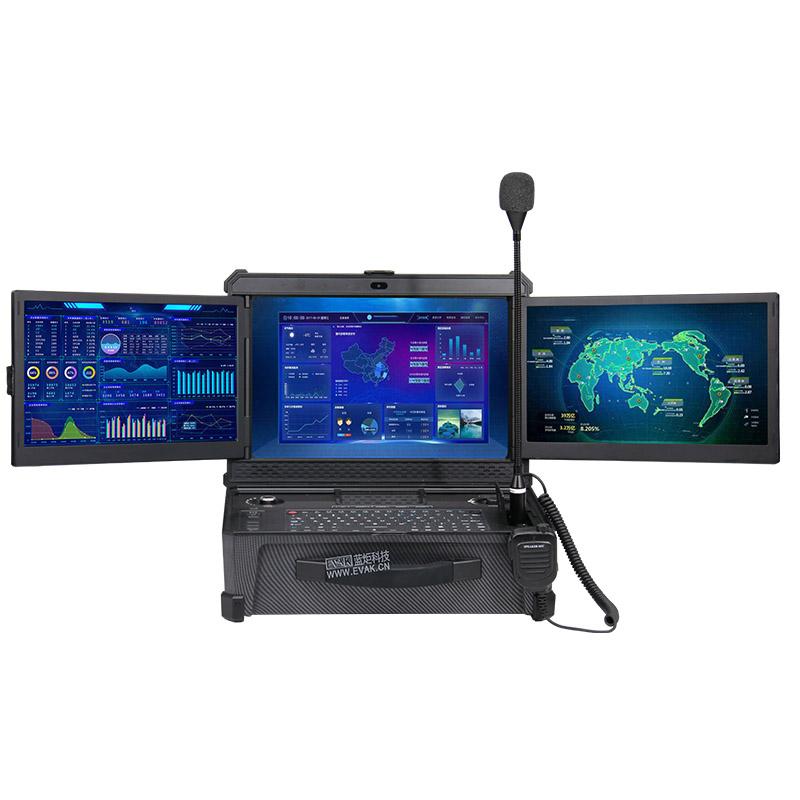 DP-9000三屏便携式加固应急指挥箱三屏碳纤维计算机